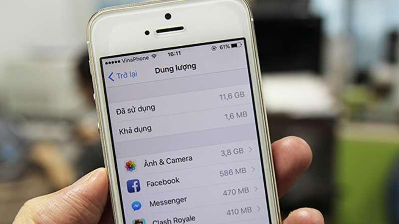 Nâng cấp bộ nhớ iPhone