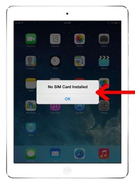 Ipad không nhận thẻ Sim