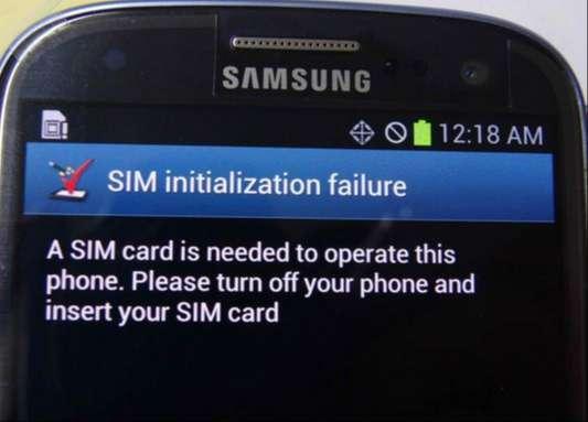 Sửa Samsung lỗi không nhận Sim