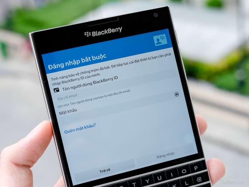 Đăng nhập tài khoản BlackBerry